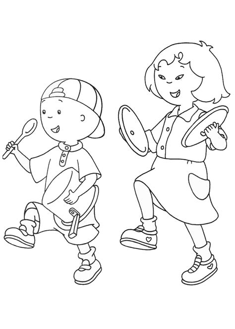 Printable Caillou Coloring Pages Coloring Me Caillou Coloring Page