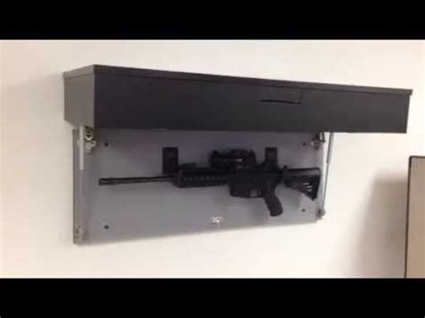 Concealed Gun Cabinets   Assault Rifle Cabinet with Biometric Lock   YouTube
