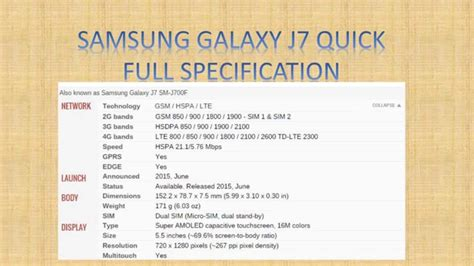 Samsung Galaxy J7 Specification samsung galaxy j7 specification review presentation