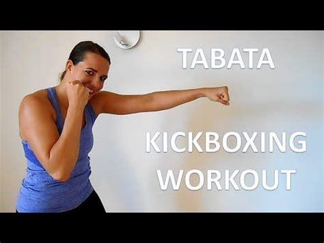 24 minute tabata kickboxing workout cardio kickboxing