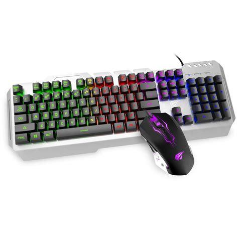 Keyboard Mouse Combo Gaming Havit Hv Hv Kb104cm gaming keyboard mouse combo havit x11 aluminum panel led
