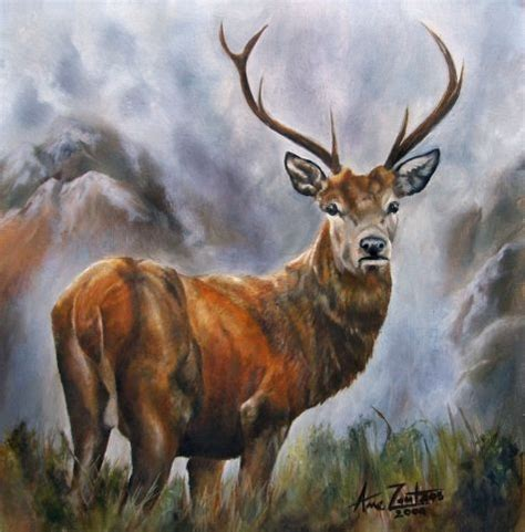 tattoo prices red deer king of the glen now sold original oil scottish red deer