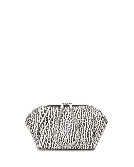 Chastity Handbag Black wang chastity small pebbled leather makeup bag