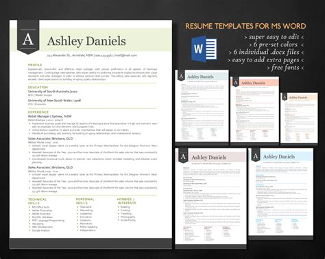 3 In 1 Spot Template Pack 3 in 1 banner word resume pack resume templates on creative market