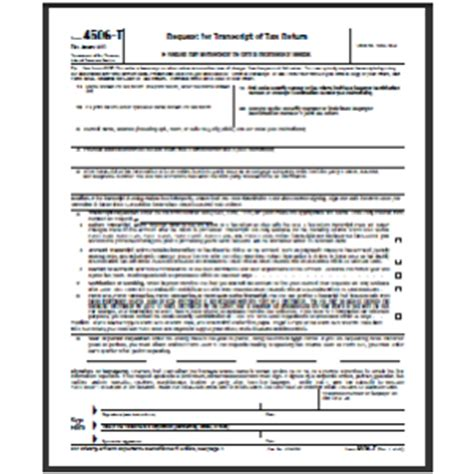 Printable 4506 T Form