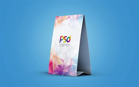 Photoshop Tent Card Template by Table Tent Card Mockup Psd Psd