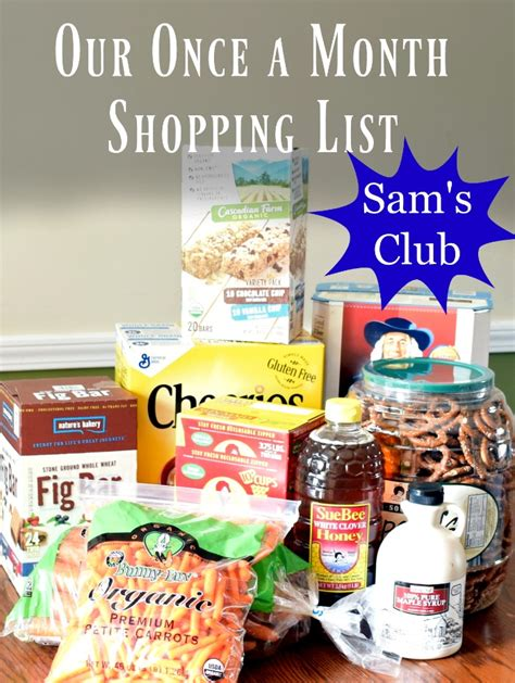 Monthly Shopping List For Sam S Club A Proverbs 31 Wife Sam S Club Shopping List Template