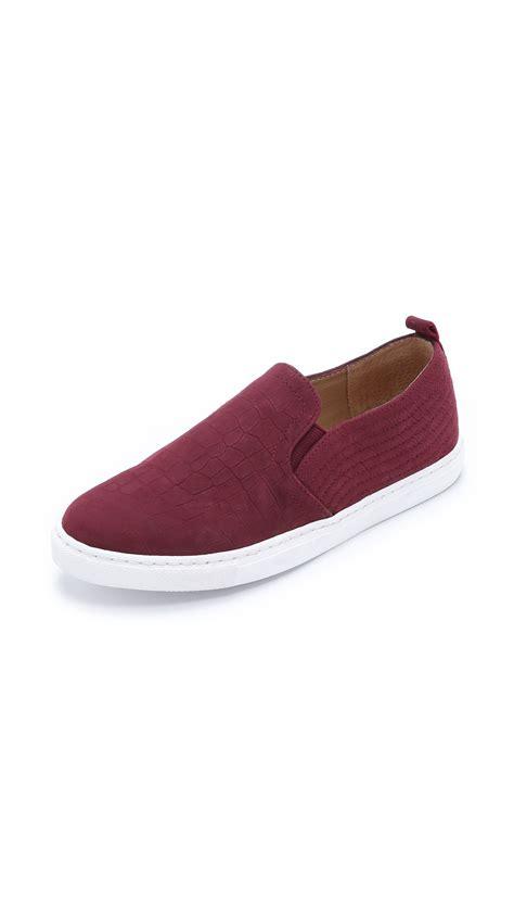 burgundy sneakers splendid san diego slip on sneakers burgundy in purple