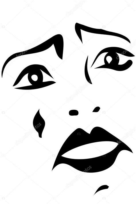 imagenes para dibujar sad desenho vetorial de um triste palha 231 o branco vetor de