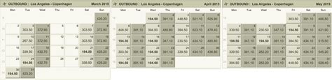 Fly Fare Calendar How To Fly From The U S To Europe For 200 Budget