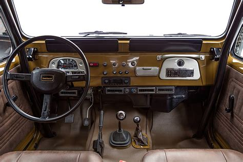 classic land cruiser interior this vintage 81 toyota land cruiser is perfectly wild