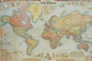 Paper World Map by Florentine Print World Map Gw Bacon