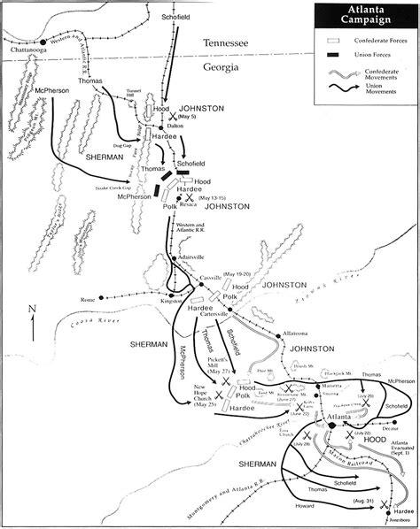 map of atlanta during civil war atlanta caign map civil war maps of battles