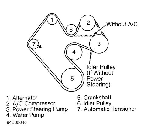 1996 Jeep Belt Diagram 1997 Jeep Wrangler Serpentine Belt Routing And Timing Belt