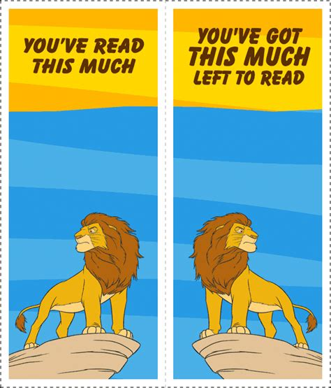 printable lion bookmarks print it