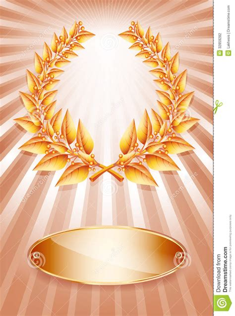 backdrop design competition bronze award laurel wreath and label stock vector image