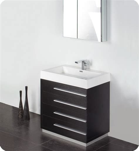 fresca bathroom vanities convenience boutique fresca livello 30 quot black modern