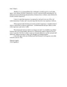 how to write a testimonial template sle of a business testimonial letter testimonial