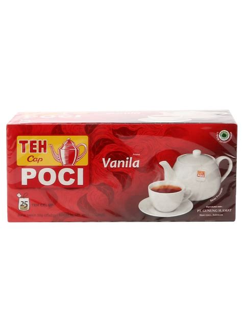 Teh Celup Poci poci teh celup vanilla box 25x2g klikindomaret