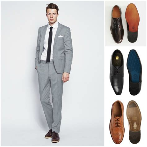what color shoes to wear with grey suit what colour shoes to wear with your suit boy style
