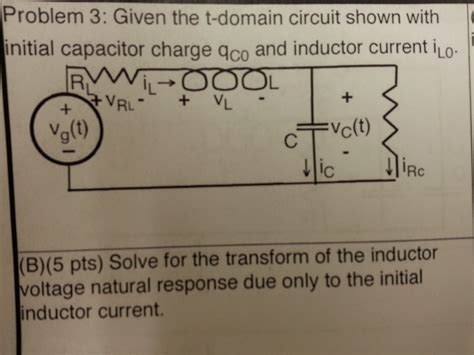 solve for the voltage across the inductor a draw the s dioxin circuit using the inductor se chegg