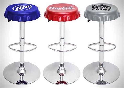 unique bar stool with ivy cap seating picciotto bar classic beverage inspired stools bottle cap bar stools