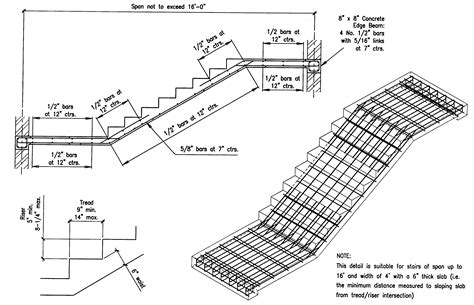concrete stair section building guidelines drawings section b concrete construction