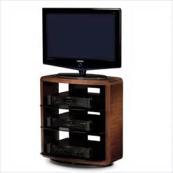 swivel tv stands valera single wide 4 shelf swivel tv stand in chocolate