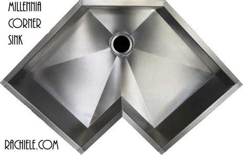 Corner single bowl custom stainless steel kitchen sinks