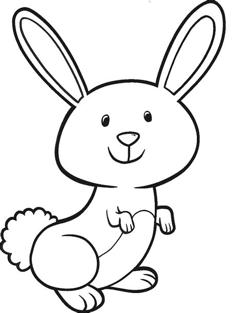 Simple Bunny Coloring Page | simple rabbit coloring pages