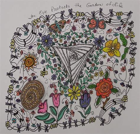 doodle lifestyle vine the eye protects the garden of by craftydr via