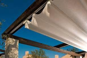 Pergola Roof Blinds by Metal Running Tracks Attached To Pergola Neater Option