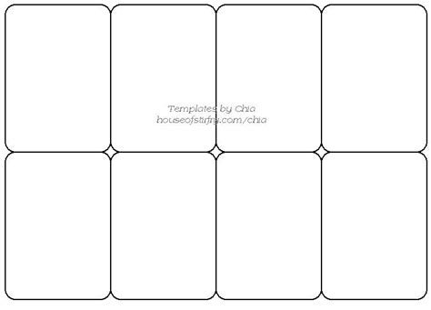 Trading Card Dividers Template by Templete For Cards Artist Trading Cards Craft
