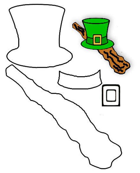 leprechaun outline cliparts co
