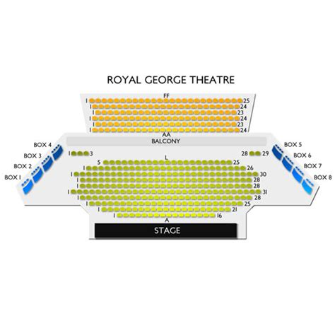 theatre royal seating chart royal george theatre seating chart seats