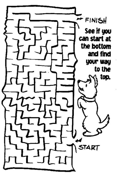 printable dog maze printable mazes print your maze dog puzzle all kids