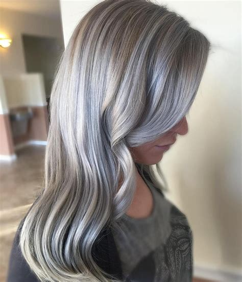 pictures of white hair with highlights 40 shades of grey silver and white highlights for eternal