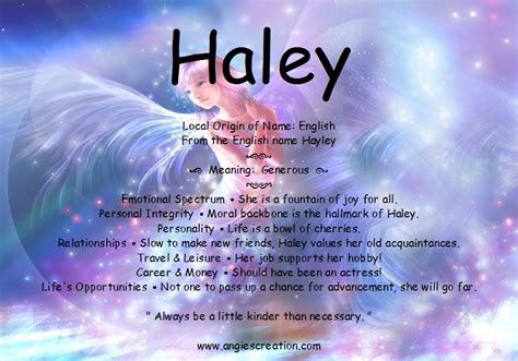 Meaning Of The Name Hailey Picture And Images