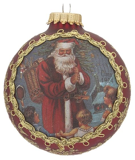 2017 santa on silk 1904 pere noel christmas ornament