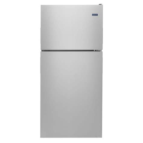 maytag 18 cu ft top freezer refrigerator in