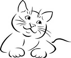 doodle kucing clipart cat lineart