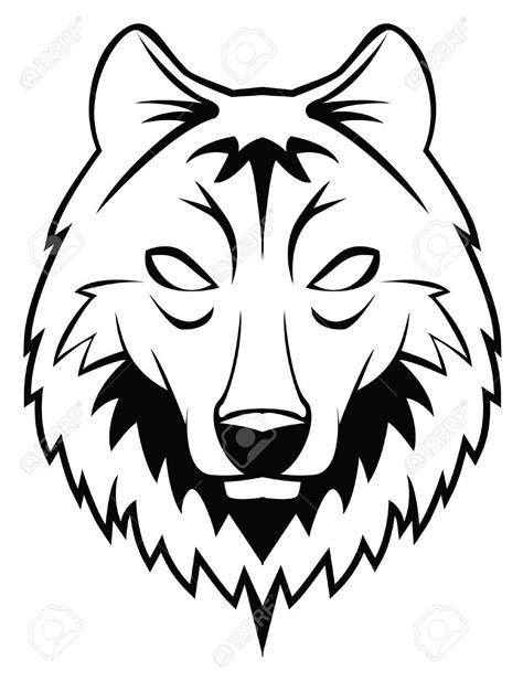 52 howling wolf head clip art