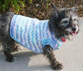 Crochet dog clothes free crochet patterns dog sweaters long