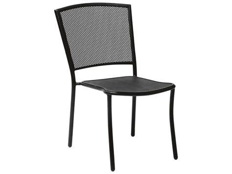 Black Wrought Iron Dining Chairs Woodard Albion Wrought Iron Dining Chair In Textured Black 7r0022 92