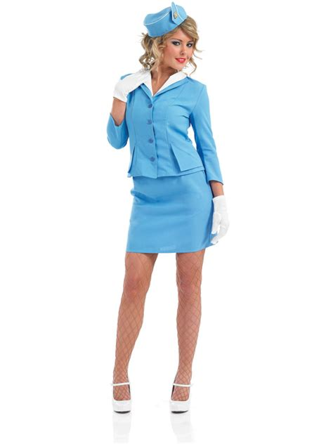 How To Dress Up For Cabin Crew blue cabin crew air hostess fancy dress costume pan