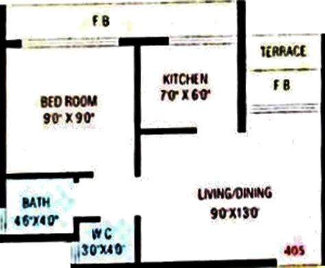 610 sq ft 1 bhk floor plan image gaj avenue available 610 sq ft 1 bhk 1t apartment for sale in zorba kk crystal