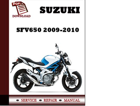 Suzuki Workshop Manual Pdf Suzuki Sfv650 2009 2010 Workshop Service Repair Manual Pdf