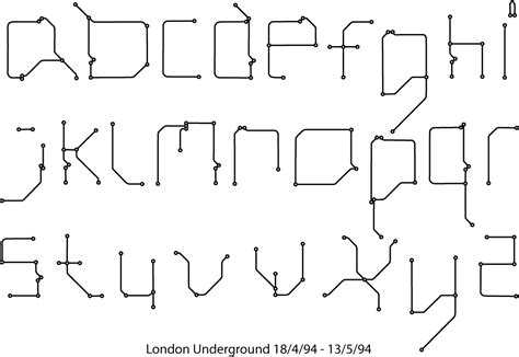 font design london interesting london underground typeface jayji062