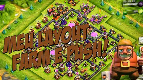 layout troll cv 9 push meu layout farm e push cv9 layout farm and push th9