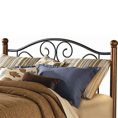 Black Iron Headboard by Doral Iron Headboard Matte Black Finish Wooden Walnut Posts